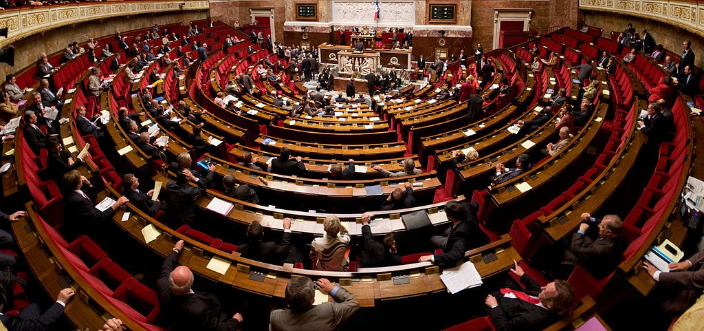 Panorama de l'hémicycle de l'Assemblée nationale