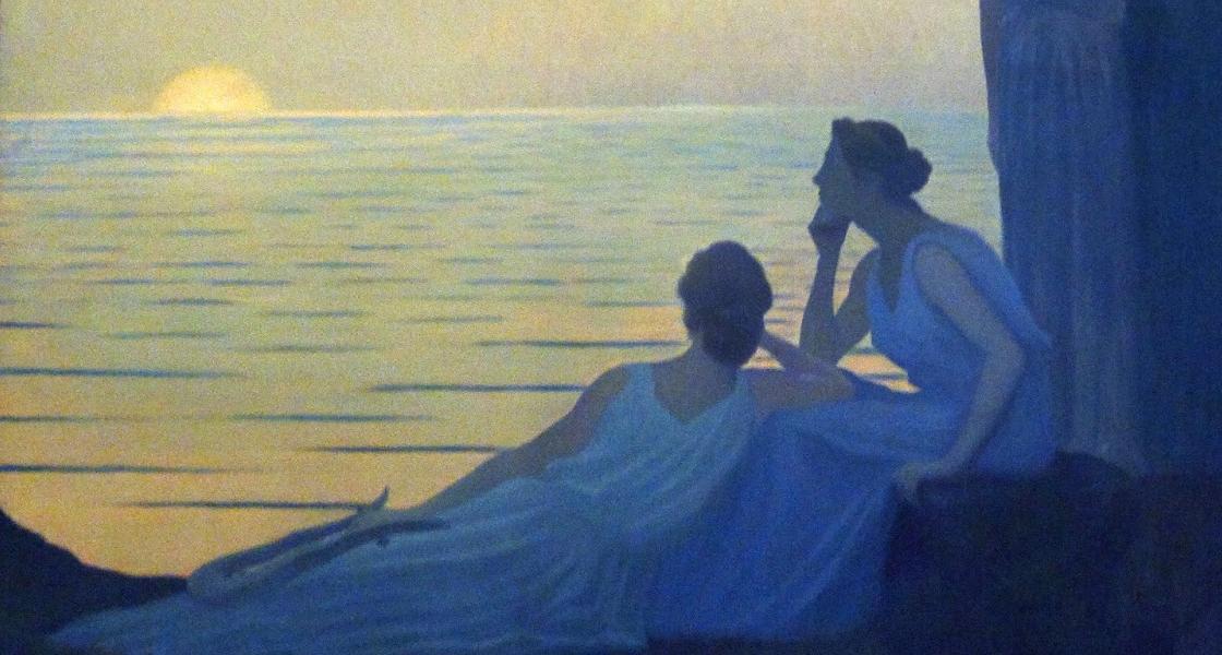 Alphonse Osbert Soir antique 1908