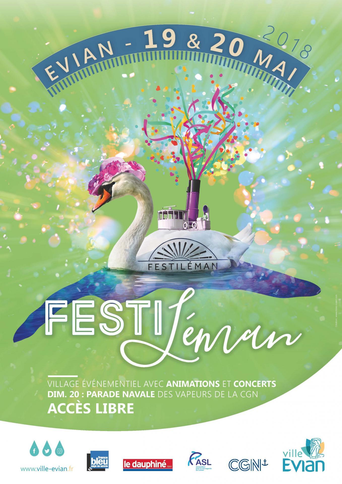 Evian festileman2018 affiche