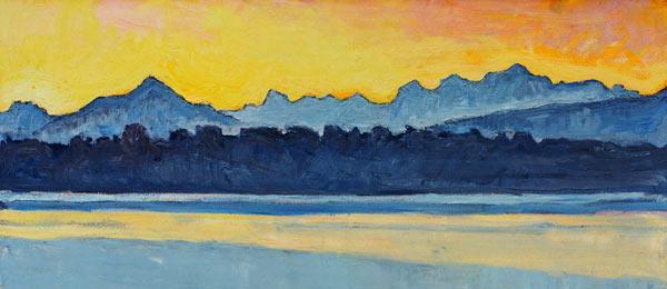 Ferdinand hodler le lac de genc3a8ve et le mont blanc