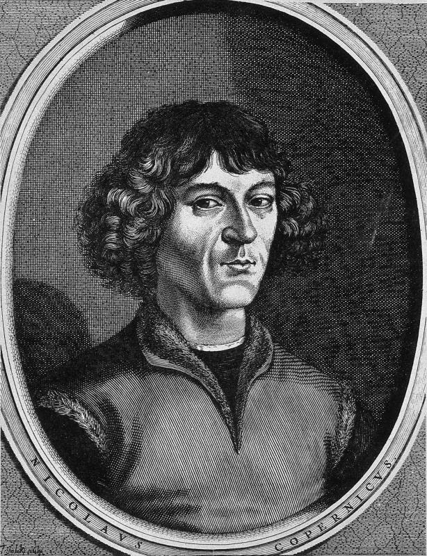 Nicolaus copernicus reproduction of line engraving