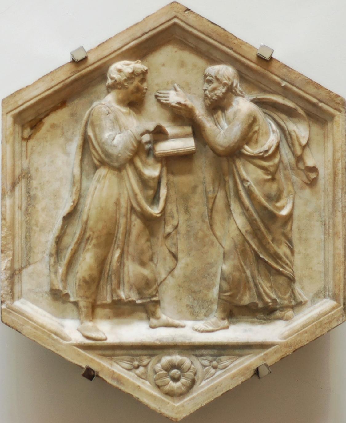 Plato aristotle della robbia